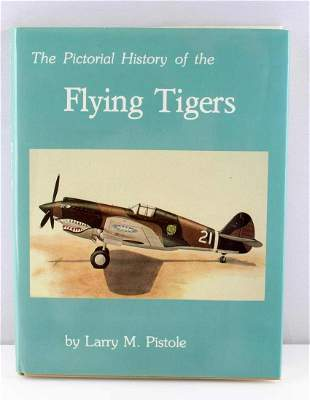 WWII FLYING TIGERS PICTORIAL HISTORY SIGNED BOOK