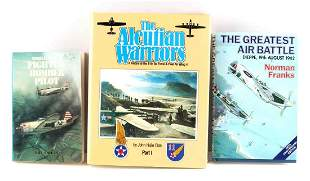 3 WWII FIGHTER BOMBER BOOKS SIGNED BY AUTHORS