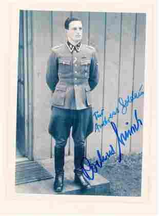 WWII GERMAN ROCHUS MISCH AUTOGRAPHED PHOTO