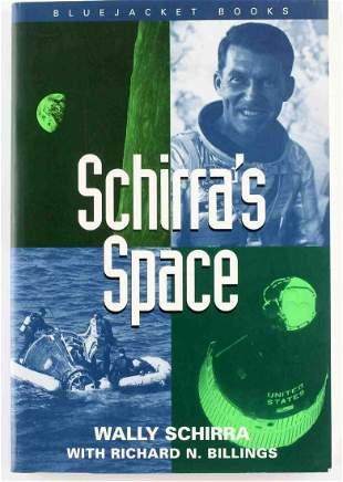 WALLY SCHIRRA AUTOGRAPHED SCHIRRAS SPACE BOOK