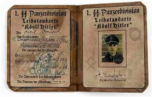 WWII GERMAN SS PANZERGRENADIER DIVISION AUSWEIS ID