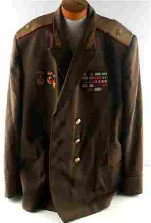WWII SOVIET GENERALS TUNIC WITH DECORATIONS