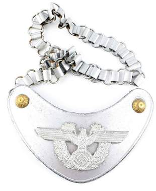 WWII GERMAN THIRD REICH POLICE PARADE GORGET