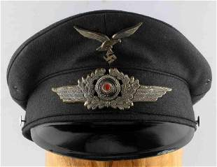 POST WWII GERMAN THIRD REICH LUFTWAFFE VISOR CAP