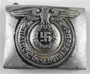 WWII GERMAN WAFFEN SS OFFICER BELT BUCKLE