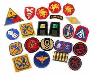 22 ASSORTED WWII US AIRBORNE MARINES PATCH LOT