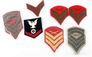 LOT OF 8 WWII USMC SERGEANT RANK CHEVRON PATCHES