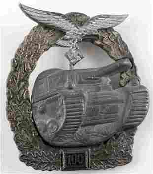 WWII THIRD REICH LUFTWAFFE TANK ASSAULT BADGE