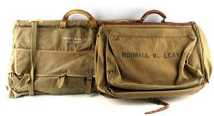 LOT OF 2 U.S. WWII UNIFORM CARRY ON BAGS