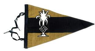 WWII GERMAN AFRIKA CORPS FLAG CAR PENNANT