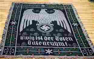 WWII GERMAN WAFFEN SS DACHAU EAGLE WALL TAPESTRY
