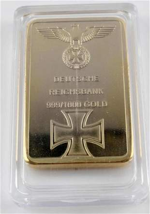 POST WWII FACSIMILE GERMAN REICHBANK GOLD BAR