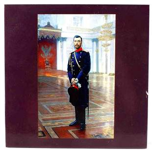 PORCELAIN TILE TSAR NICHOLAS II IN WINTER PALACE