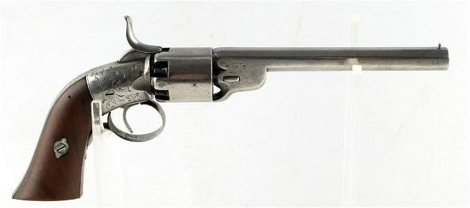 BELGIAN COLT COPY ENGRAVED 9MM PERCUSSION REVOLVER
