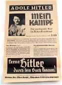 WWII GERMAN MEIN KAMPF PROPAGANDA BROADSIDE PAPER