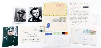 WWII GERMAN SIGNED PHOTOS & LETTERS FROM SOLDIERS