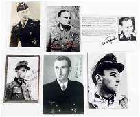 WWII GERMAN PHOTOS SIGNED BY IRON CROSS RECIPIENTS