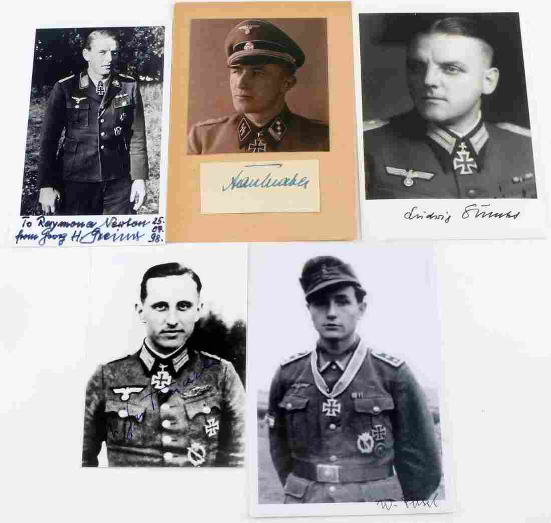 5 WWII GERMAN PHOTOS OF KNIGHTS CROSS RECIPIENTS