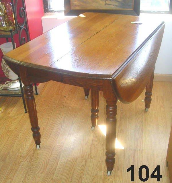 80104: ANTIQUE RENAISSANCE VICTORIAN DROPLEAF TABLE