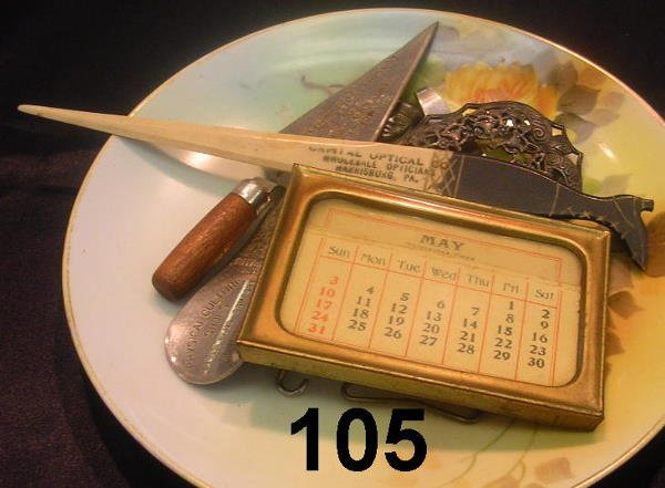 80105: ANTIQUE LOT LETTER OPENER SHOE HORN AND MORE MUS