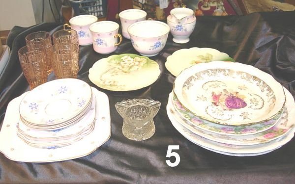 805: FRENCH ENGLAND CHINA LOT DEPRESSION GLASS ANTIQUE