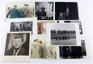 LOT OF 10 ASSORTED PHOTOGRAPHS OF JOHN F. KENNEDY
