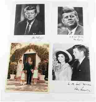 GROUP OF 4 ASSORTED PHOTOGRAPHS OF JOHN F. KENNEDY