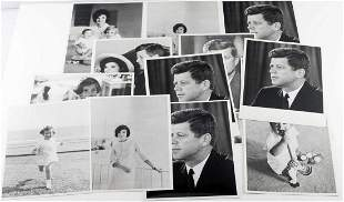 LOT OF 15 ASSORTED PHOTOGRAPHS OF JOHN F. KENNEDY