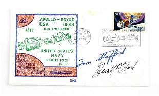 THOMAS STAFFORD GERALD FORD SIGNED ENVELOPE