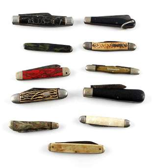 ASSORTED 11 POCKET KNIFE LOT COLONIAL IMPERIAL