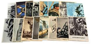 16 WWII GERMAN THIRD REICH SS LUFTWAFFE POSTCARDS