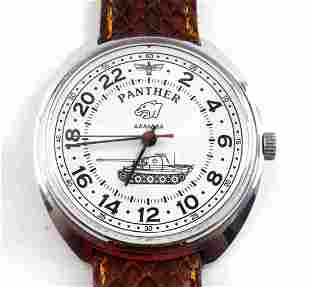 WWII THEMED GERMAN PANTHER TANKER WRIST WATCH