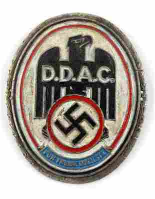 WWII GERMAN THIRD REICH DDAC AWARD PLAQUE