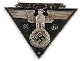 WWII GERMAN SA SS MILITARY BIKERS AWARD PLAQUE