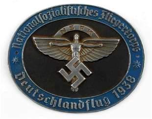 WWII GERMAN 1938 GLIDER KORPS NSFK PLAQUE