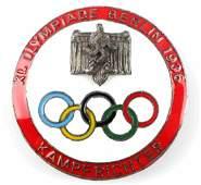 1936 WWII GERMAN BERLIN OLYMPIC KAMPFRICHTER BADGE