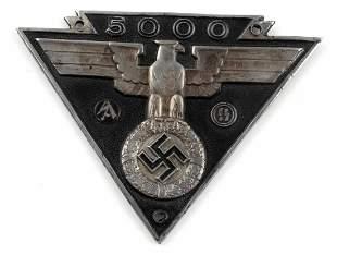 WWII GERMAN WAFFEN SS MILITARY BIKER AWARD PLAQUE