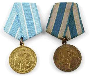 GROUP OF 2 SOVIET RUSSIAN CIVILIAN WORK MEDALS