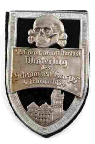 WWII GERMAN 1934 SS SCHWARZEN KORPS SHIELD PIN