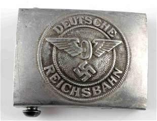 WWII GERMAN DEUTSCHE REICHSBAHN BELT BUCKLE