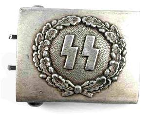 WWII GERMAN THIRD REICH WAFFEN SS BELT BUCKLE