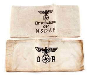 WWII GERMAN DEUTSCHE REICH & NSDAP ARMBANDS