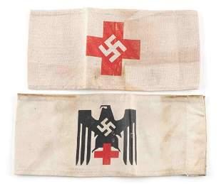 WWII GERMAN THIRD REICH NSDAP RED CROSS ARMBANDS