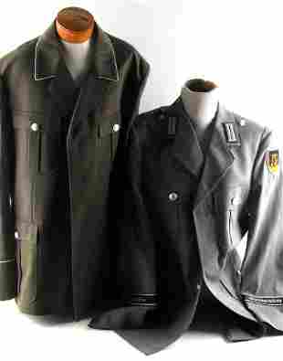 2 POST WWII WEST GERMAN UNIFORM TUNICS
