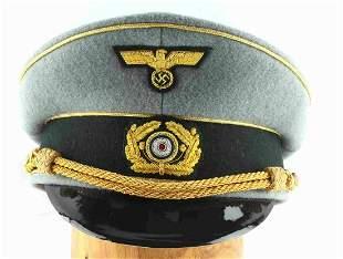 WWII GERMAN THIRD REICH GENERAL VISOR HAT