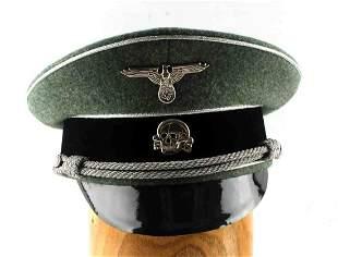 WWII GERMAN REICH WAFFEN SS GENERALS VISOR HAT