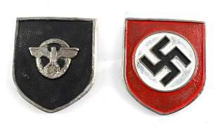 WWII GERMAN SET OF 2 HEER PITH HELMET SHIELDS