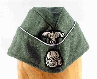 WWII GERMAN THIRD REICH SS OFFICER TOTENKOPF CAP