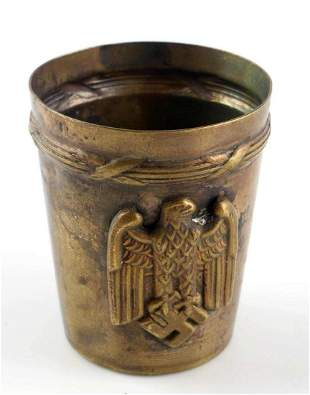 WWII GERMAN ARMY OFFICERS CANTEEN SCHNAPPS CUP