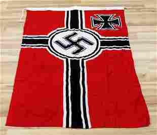WWII GERMAN THIRD REICH IMPERIAL WAR FLAG BANNER